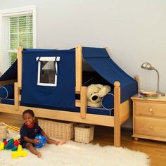 Cool!  Maxtrix Kids Daybeds Twin Daybed / Toddler Canopy Bedroom Collection