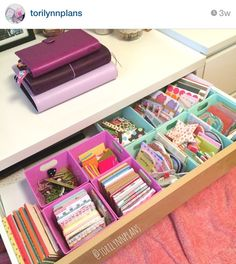 I need an easily accessible craft drawer like this!!