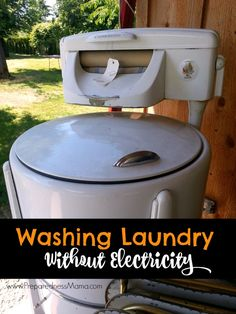 In the event we don't have electricity, you'll still want to be able to wash your laundry. The page below from Preparedness Mama has some great tips along with a tutorial on building your very own off-grid washing machine! Homestead Survival, Survival Prepping, Emergency Preparedness, Survival Gear, Survival Skills, Survival Shelter, Emergency Supplies, Emergency Binder, Survival Stuff