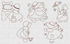 INSTANT DOWNLOAD 24 Ultimate Sunbonnet Sue Machine Embroidery Designs