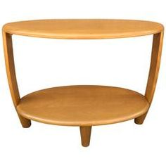 Tiered Oval Maple Side Table by Heywood Wakefield