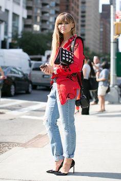 Kristina Bazan #NYFW #StreetStyle