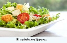 10 ensaladas con Thermomix Feta, Cobb Salad, Potato Salad, Salads, Potatoes, Cooking, Ethnic Recipes, Kitchen, Queso