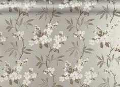 Calissa Pewter Floral Wallpaper - for guest room. Matches grey bed linen.