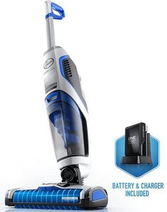 The Hoover OnePWR FloorMate Jet powerfully vacuums and washes your floors at the same time, making cleaning hard surfaces faster and easier!