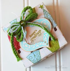 Shaker Box uses the new set by JustRite called Holiday Cheer.  The Cricut was used to create the box.