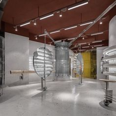 Shanghai-based studio DAS Lab has designed a concept store for eyewear brand MUJOSH in Guangzhou, China, centered on the notion of stillness. Cultural Center, Retail Space, Guangzhou, Contemporary Interior, Concept, Ceiling Lights, Store, Inspiration, Retail Design