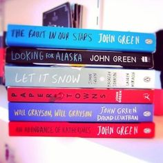 The Fault in Our Stars, Looking For Alaska, Let it Snow, Paper Towns, Will Grayson Will Grayson, An Abundance of Katherines ~ John Green