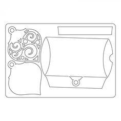 661556 Sizzix Bigz L Die - Box, Pillow w/Ornaments - Coming Soon - Column 1 - Products