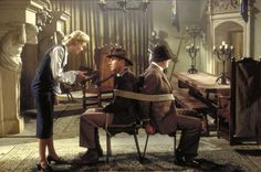 "Sean Connery Harrison Ford and Alison Doody in ""Indiana Jones and the Last Crusade"" Indiana Jones Last Crusade, Indiana Jones Films, Indiana Jones Adventure, Henry Jones, Sean Connery, Steven Spielberg, Harrison Ford, Film Review, Great Movies"