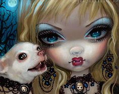 Faces of Faery 235 fairy face art print by Jasmine Becket-Griffith 6x6 chihuahua vampire dog vampmires