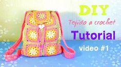 Cuadro Mochila 1 Para Granny Backpack Video Crochet PPWrSTp1q