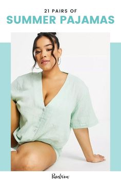 Now's the time to ditch those heavy flannel PJs that are causing night sweats. Here, 21 summer pajamas for women you'll actually be excited to slip into come bedtime. Cute Maternity Outfits, Asos Maternity, Workout Outfits, Nike Outfits, Summer Pajamas, Night Sweats, Black Girl Fashion, Weekend Wear, Cute Shorts