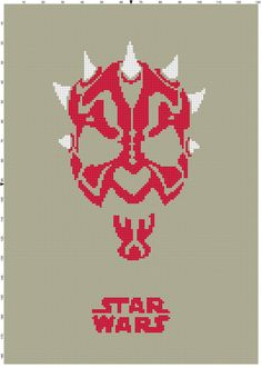 Darth Maul Star Wars Cross Stitch by CrossStitchGraphghan on Etsy, $2.00