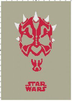 Darth Maul Star Wars Cross Stitch by CrossStitchGraphghan on Etsy, $2.00