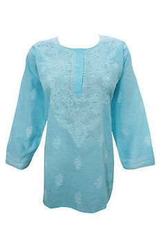 BOHO-WOMEN-BLUE-COTTON-KURTI-EMBROIDERED-HIPPY-ETHNIC-INDIAN-TUNIC-BLOUSE-L  http://stores.ebay.com/mogulgallery/DESIGNER-KURTI-/_i.html?_fsub=665889019&_sid=3781319&_trksid=p4634.c0.m322