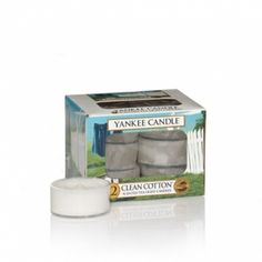 Clean Cotton® : Tea Lights (box Of 12) : Yankee Candle