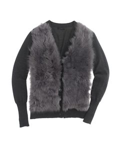 J. Crew Collection Shearling Cardigan | LuckyShops