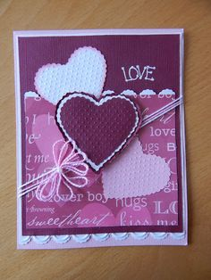 Dianne's cards--SU Scalloped Heart of Hearts Embosslits