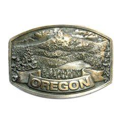 Oregon Mt Hood Bergamot Brass Works Vintage Belt Buckle