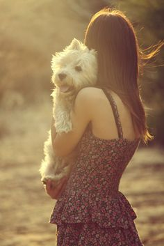 a girl and her westie = love.