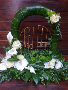 Gates of Heaven - Foliage Funeral Flower Arrangements, Funeral Flowers, Funeral Sprays, Funeral Tributes, Ikebana, My Flower, Grapevine Wreath, Altar, Grape Vines