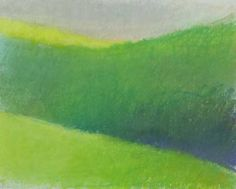 Green Turning by Wolf Kahn, Pastel on Paper