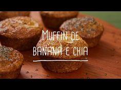 Muffin de banana e chia sem farinha | Receita Saudável - Lucilia Diniz - YouTube