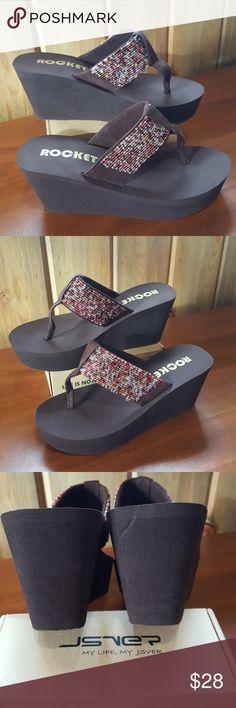Spotted while shopping on Poshmark: Rocket Dog Brown Wedge Sandal Size 7! #poshmark #fashion #shopping #style #Rocket Dog #Shoes