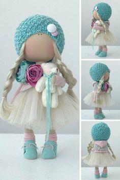 Cloth doll Art doll Tilda doll Handmade doll Fabric doll