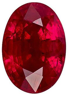 Genuine Ruby Red Loose Gemstone, Oval Cut, 7.2 x 5.0 mm, 1.25 Carats at BitCoin Gems