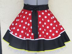 Minnie Mouse Double Flounce Half Apron  Full of by AquamarCouture, $32.00