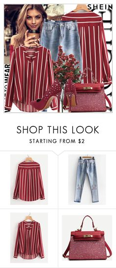 """Shein"" by adela-mehic ❤ liked on Polyvore Romwe, Blouse, Polyvore, Shopping, Fashion, Moda, Fashion Styles, Blouses, Fashion Illustrations"