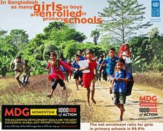 Education for all . In #Bangladesh as many girls as boys are enrolled in primary school. #UprisingBangladesh