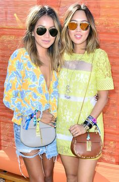#chloeGIRLS x Coachella – Sincerely Jules and Aimee Song finished their festival looks with the Drew bag, April 2015.