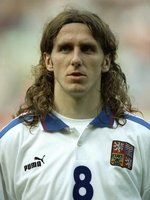 Karel Poborsky part of the stunning Czech team that nearly stunned the continent in Euro 96 - and also part time glam rocker. Strange, you'll never see Karel and Justin from The Darkness in the same room!