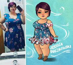 Tired Of Seeing Prejudice Against Plus-Sized Women This Artist Turned Them Into Art Plus Size Art, Plus Size Women, Big Girl Quotes, Portrait Cartoon, Woman Illustration, Chubby Girl, Ideal Body, Black Women Art, Fat Women