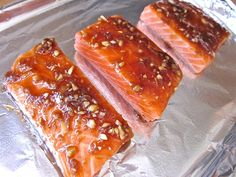 Quick & Flavorful (Spicy and Sweet) Ginger Salmon - Budget Bytes Ginger Salmon, Fresh Ginger, Salmon Bbq, Seafood Dishes, Seafood Recipes, Cooking Recipes, Yummy Food, Yummy Recipes, Spicy