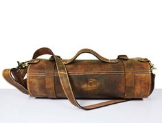 LARGE Leather knife Roll .Knife Case Chefs Roll Chefs Bag