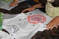 Textilní tvoření na letním táboře Venango 2017