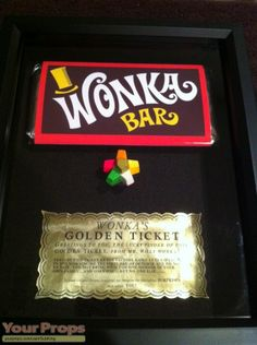 Everlasting Gobstopper, Wonka Bar & Golden Ticket replica movie prop from Willy Wonka and The Chocolate Factory (1971)