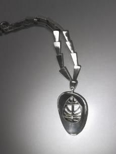 Necklace with Swivel Pendant.   John Paul Miller, USA.  1951
