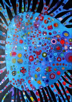 Elke Trittel acrylic on canvas 87x118cm