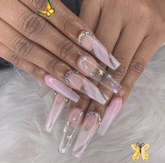 #demiemartinezz #pretty acrylic nails coffin long False claws have been about ev<br> Acrylic Nails Stiletto, Best Acrylic Nails, Coffin Nails, Butterfly Nail Designs, Ballerina Nails, Oval Nails, Dope Nails, White Nails, Trendy Nails