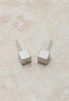 Silver Box Studs