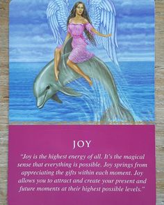 Joy is the highest energy of all. It's the magical sense that everything is possible. Joy springs from appreciating the gifts within each moments. Joy allows you to attaract and create your presents and future moments at their highest possible levels.