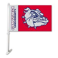 Gonzaga Bulldogs Team Logo Car Flag