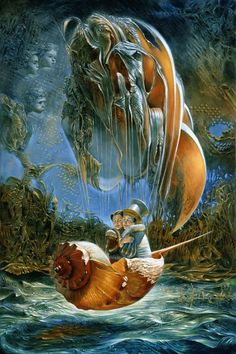 Surrealism and Visionary art: Michael Cheval . - Surrealism and Visionary art: Michael Cheval … Surrealism and Visionary art: Michael Cheval Art And Illustration, Illustrations, Art Visionnaire, Arte Alien, Michael Art, Creation Art, Surrealism Painting, Magic Realism, Inspiration Art