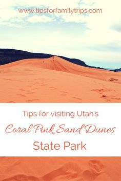 Coral Pink Sand Dunes State Park is a fun family destination near Zion National Park. Includes things to do, weather, amenities, what to pack and more. Utah Camping, Camping Places, Places To Travel, Travel Destinations, Colorado Hiking, Camping Spots, Travel Things, Camping Ideas, State Parks