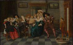Dirck Hals (Dutch, 1591–1656). A Banquet, 1628. The Metropolitan Museum of Art, New York. Purchase, 1871 (71.108)